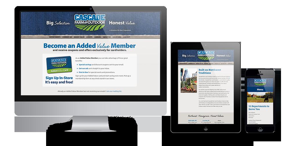 Cascade Farm and Outdoor Website